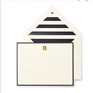 """Kate Spade """"B"""" correspondence cards (NWOT)"""